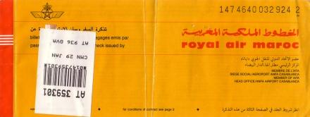 billet royal maroc
